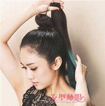 直发怎么扎头发好看 中长直发扎头发俏皮造型方法(2)图片