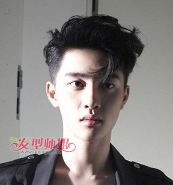 瓜子脸的男生适合什么短头发发型 男生瓜子脸适合的发型(4)