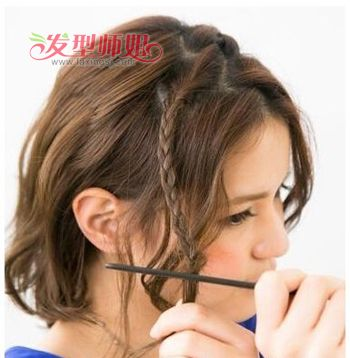 短发量少怎么扎好看 稀少短发怎么扎好看图解图片