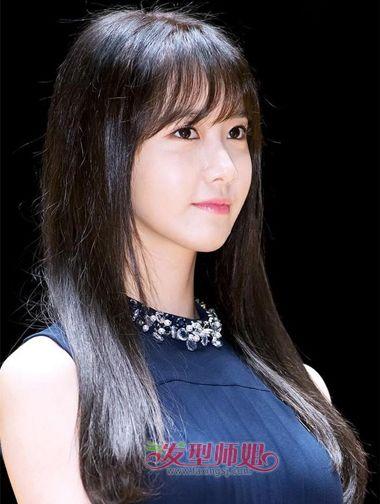 瓜子脸女星空气刘海-2016的瓜子脸的女明星现在什么发型 2016瓜子脸图片