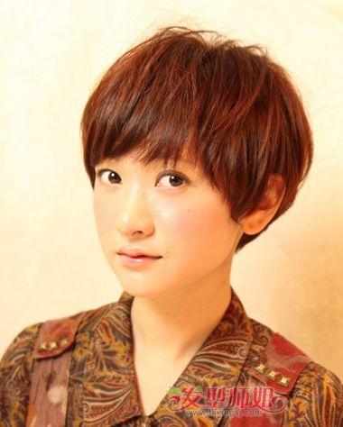 学生沙宣短发发型名称图片 短发女生学生发型图片(3)图片
