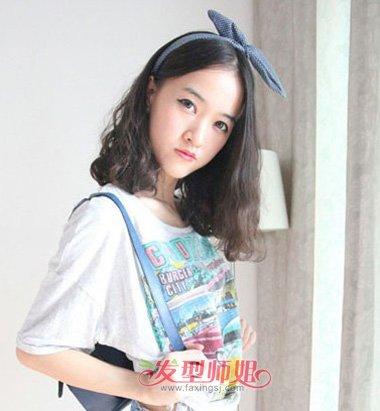 韩国小波浪齐肩短发 韩版齐肩波浪短发 发型师姐