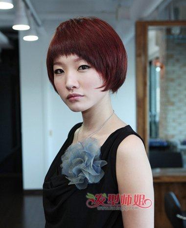 胖人适合的短发发型 胖女沙宣短发发型图片(4)图片