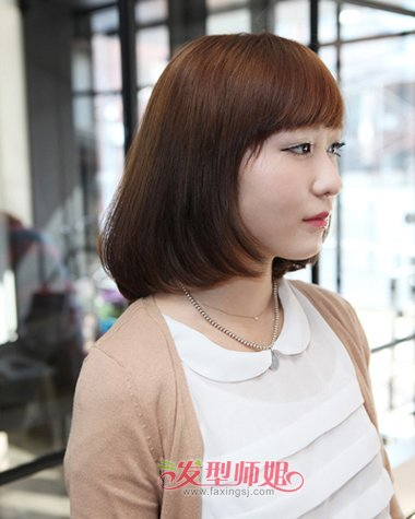 胖人适合的短发发型 胖女沙宣短发发型图片(3)图片