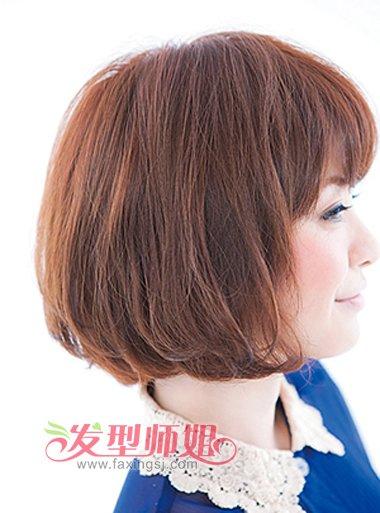 女胖子剪什么短发好看 适合圆脸胖美眉的短发(2)_发型图片