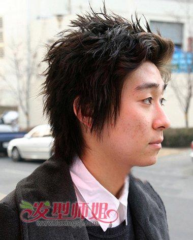 胖人后梳蓬松少发量烫头发发型-偏胖男士适合的发型 成熟胖男人发型