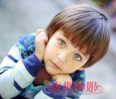 儿童男孩子西瓜头图片 可爱男生西瓜头_发型师姐图片