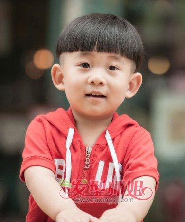 儿童男孩子西瓜头图片 可爱男生西瓜头 发型师姐