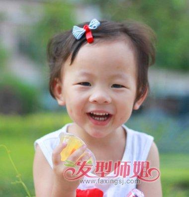 儿童超短短发扎头发 儿童超短发最新流行扎头发图解
