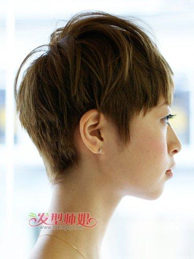 女生短头发啥发型好看 看短发型女做男发型(3)图片