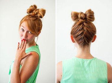 蝴蝶结发型直发怎么扎 中长直发发型扎法教程图片