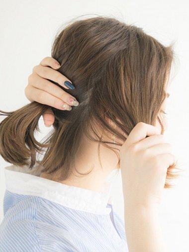 短发怎么扎好看适合初中生的 过程(2)图片