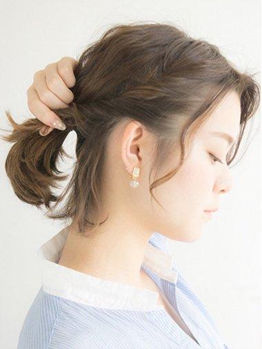 短发怎么扎好看适合初中生的 过程(5)图片