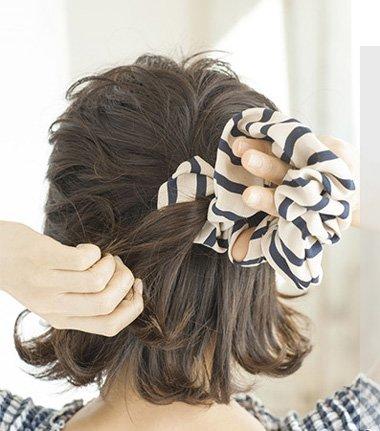 现在是短的学生头要怎样扎好看 图片 初中女生短头发的扎法图片