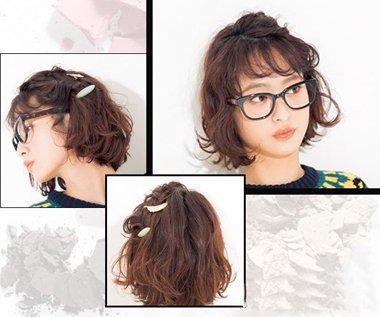 中学生短头发夏天怎么弄好看 短头发的夏天扎法图片