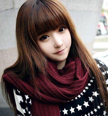 漂亮的直发发型颜色搭配图片 美女发型直发颜色(2)