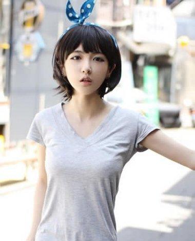 高中生直短发发型 韩国高中生短直发(3)图片