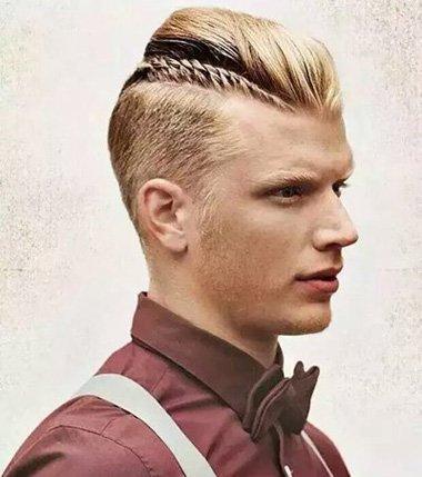 2016男生小辫子发型 男士辫子发型扎法图片