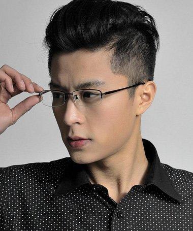 大框眼镜男生短发 清新短发男名称(2)