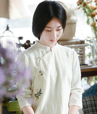 2016时尚中国复古风发型 古风女神端午来袭图片