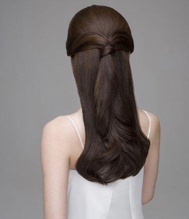 上班簇的直发扎法 各种直发的简单扎法(4)_发型师姐图片