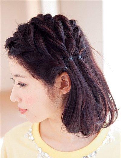 超短头发怎么编好看 超短发怎么扎辫子(2)图片