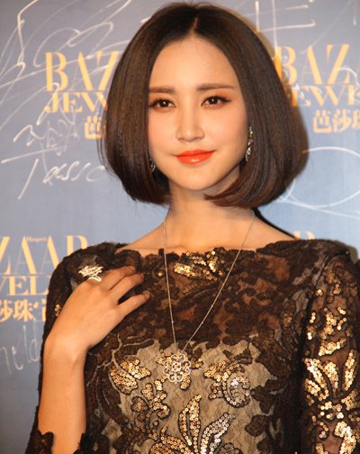 刚刚完婚的张歆艺也是短发的忠实粉丝,这款中分造型的短发波波头有了图片