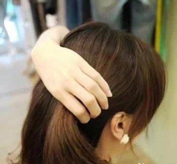 学生短头发简单的扎法 女学生短头发扎发  学生 短发怎样扎简单好看的图片