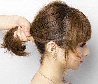 齐肩短发怎么扎蓬松发型 齐肩短头发的扎法图片