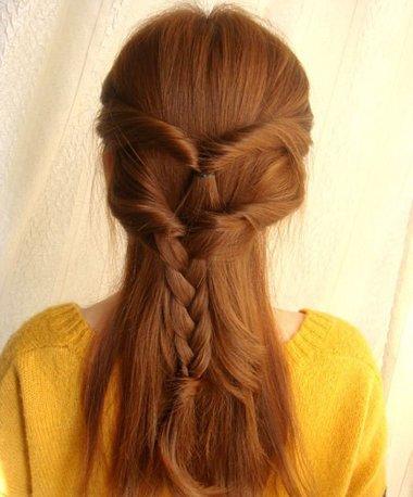 发型diy 长发扎发 >> 夏季直长头发的扎法图解 夏天直发简单发型扎法图片