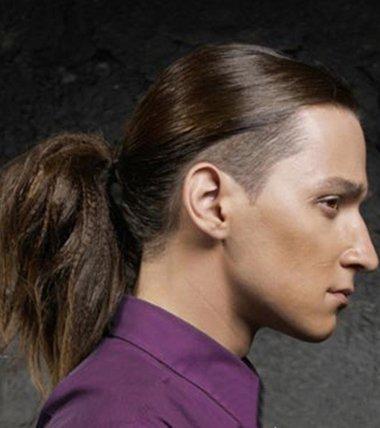 很多男士头顶留的小辫子发型 韩版男生辫子发型(4)图片