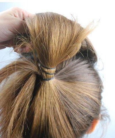 直发头发又少怎么扎好看 头发少长直发的扎法图片