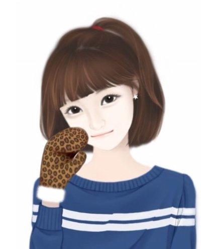 韩国短发卡通女孩 脸肥肥的发型图片(4)