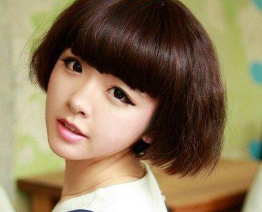初中生短发不卷怎么扎好看 初中生短发女发型头发稍卷图片