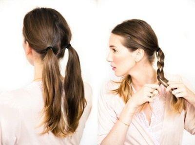 中分齐肩直发怎么扎辫子 齐肩直发的扎法_发型师姐图片
