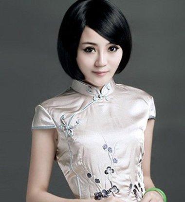 35岁脸比较瘦适合什么短发 穿旗袍什么短发显脸瘦(4)图片