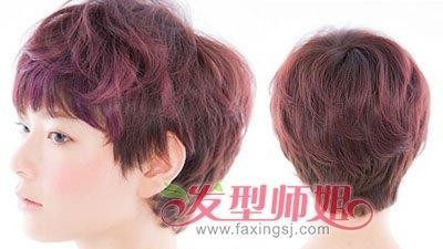 中年女性短发发型前后面图片
