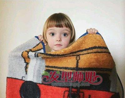婴幼儿超短发型女 宝宝个性超短发(2)
