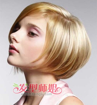 发型设计 短发 >> 标准脸型适合什么样的短发 短发设计与脸型搭配(2)图片