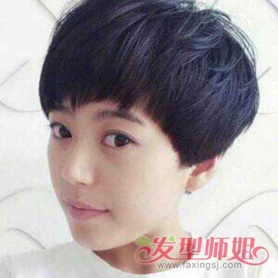 上短下长的发型直发 女生短发直发发型图片(4)