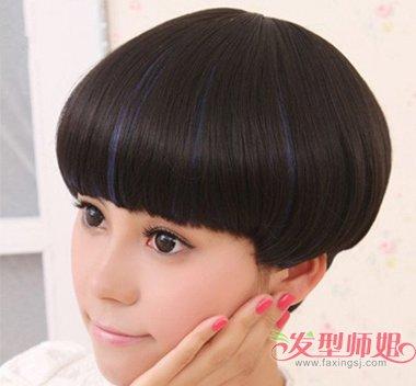 短发有颜色好看还是黑色好看 黑色短发挑染_发型师姐图片