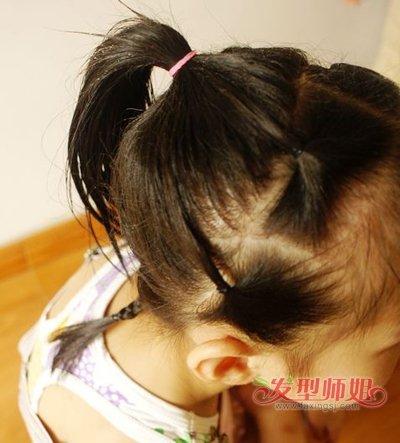 学生短发扎法图片步骤 小学生短发怎么扎好看(3)