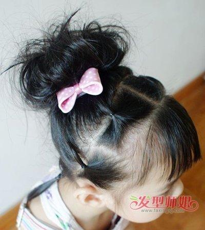 学生短发扎法图片步骤 小学生短发怎么扎好看(4)