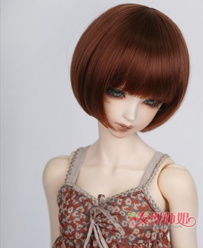 直发发型脖子短图片 90后女生直发短发发型 发型师姐图片