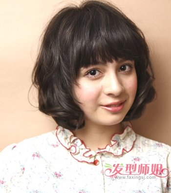 胖人短发发型图片 胖女孩适合什么短发型(4)图片
