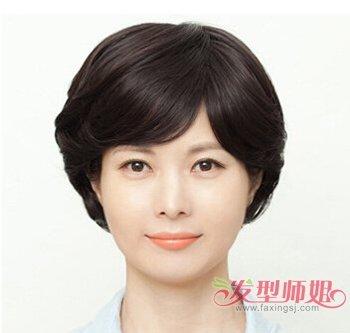 胖老年短头发造型 胖人适合剪短头发图片(2)_发型师姐图片