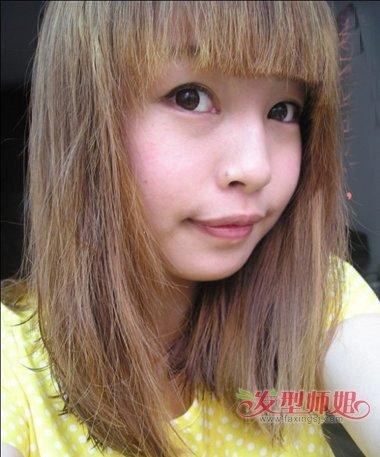 圆脸直发适合什么发型 圆脸适合的直发发型图片图片