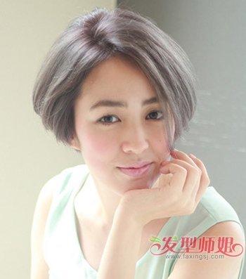 头发厚重的中年妇女留长发好还是短发好 今年中年人流行短发发型(4)图片