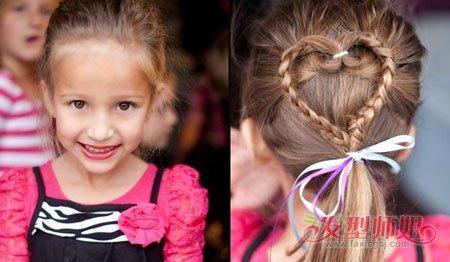 漂亮的发型怎么梳 有小辫子的儿童