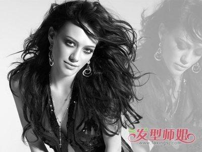 女生全烫长卷发发型-全烫卷发发型图片 发型图片女烫发全头卷图片